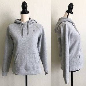 Champion Eco Heather Gray Pullover Hoodie Large